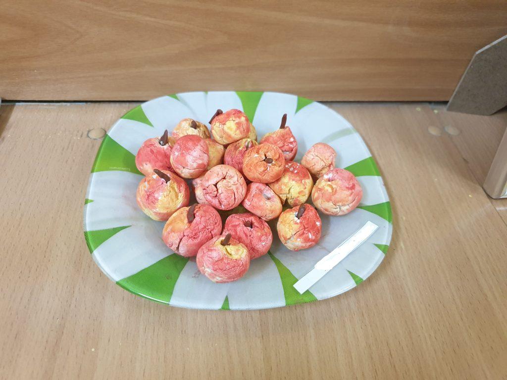 декоративные яблочки из папье-маше