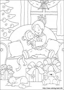Раскраска новогодняя 1