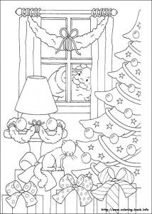 Раскраска новогодняя 3