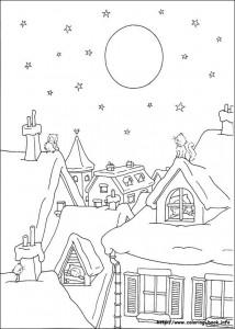 Раскраска новогодняя 06