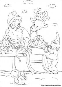 Раскраска новогодняя 09
