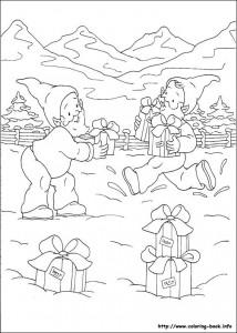 Раскраска новогодняя 10