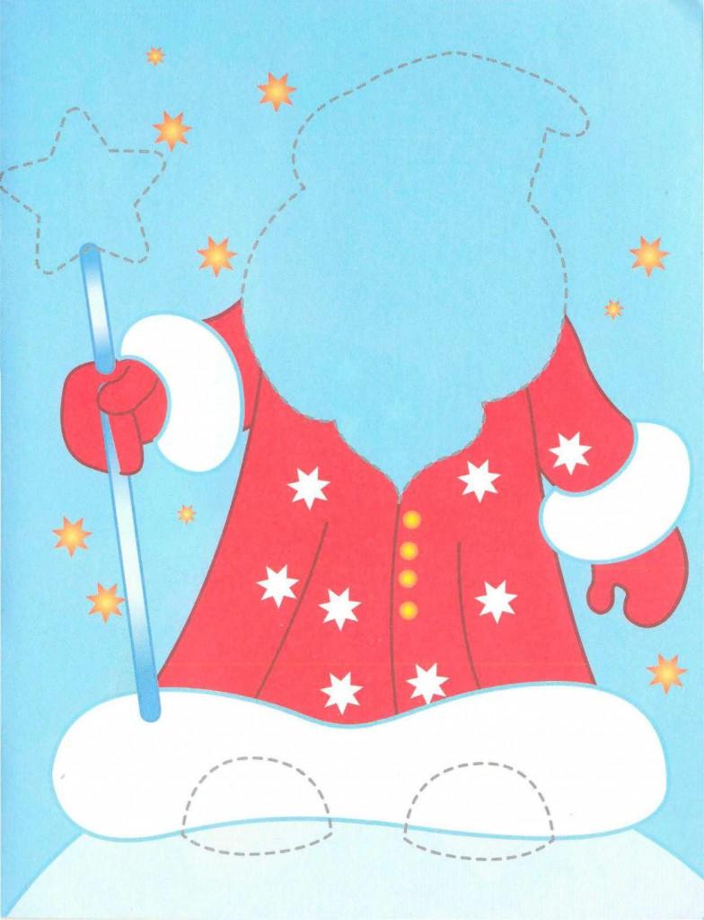 """Родителям о детях, развлечения и обучение для детей """" Аппликации """"Дед Мороз"""" и """"Снегурочка"""" для детей от 3 до 7 лет"""