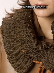 шарф вязаный спицами
