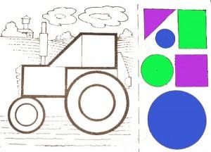 аппликация трактор