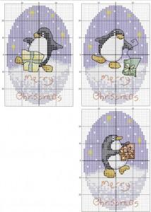 Вышивка крестом. Пингвины. Схема 3